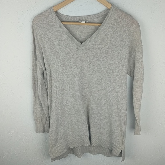 J. Crew Factory Sweaters - FINAL J Crew factory slub cotton v neck sweater 5c8fec0f7
